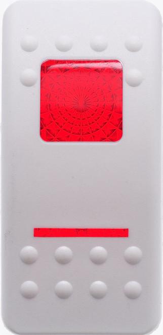 VVASY00-000, Carling, Contura 2, Hard White, Actuator, 1 red bar lens, 1 red square lens,20527