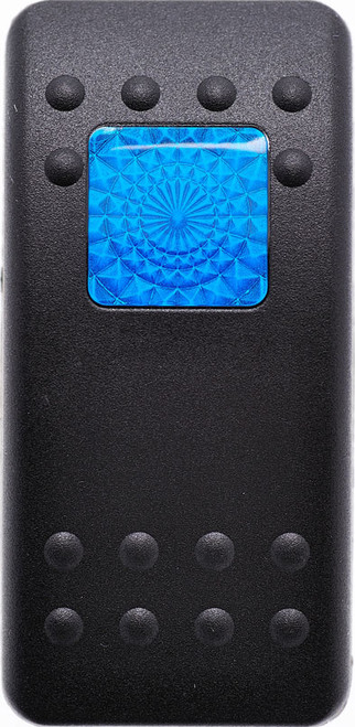 Carling, v series, hard black, 1 blue square lens, switch cap, actuator, VVAWC00-000, Contura II