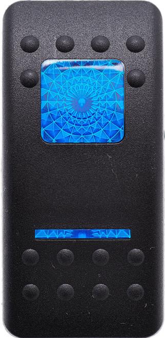 Carling, V Series, switch cap, actuator, hard black, 1 blue bar lens, 1 blue square lens, Contura II, VVAYC00-000