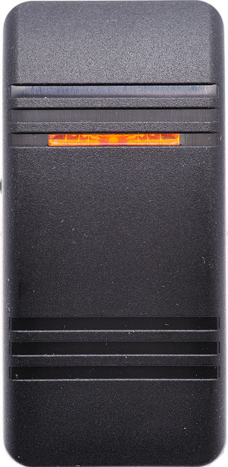 contura III, switch cap, actuator, carling, v series, hard black, 1 amber bar lens, VVCBC00-000