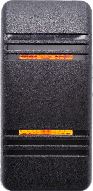 carling, v series, switch cap, actuator, hard black, 2 amber bar lens, contura III, VVCCC00-000