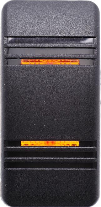 carling, v series, switch cap, actuator, hard black, 2 amber bar lens, contura III, VVCCC00-000,00018565