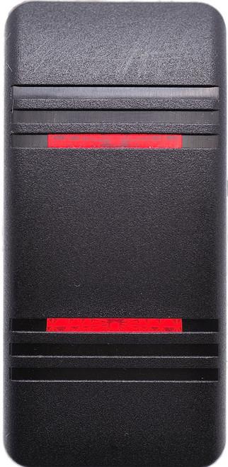 Carling v series, contura III, switch cap, actuator, hard black, 2 red bar lens, VVCNC00-000