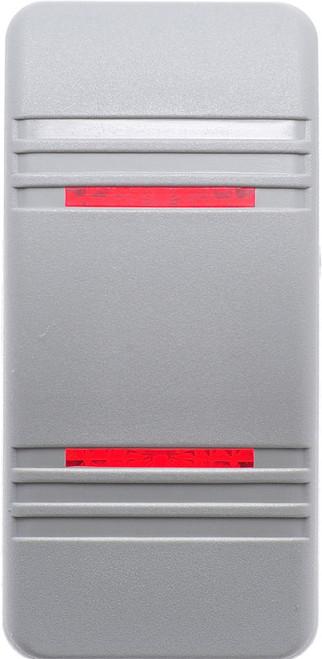 carling, v series, switch cap, actuator, hard gray, 2 red bar lens, VVCNH00-000,033-0485,RS-CAR-021,