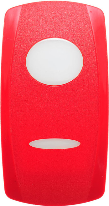 Carling V Series Rocker switch actuator, red, two white lenses, vvg9s00-000