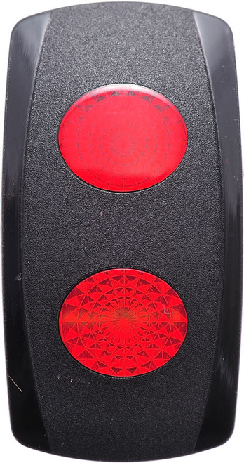 Carling V Series Rocker Actuator, 2 red oval lenses, VVGSC00-000