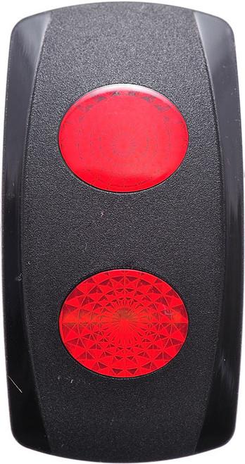 VVGSC00-000, Carling V Series Rocker Actuator, 2 red oval lenses, 00001693, 466-05000-101