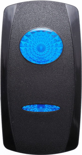 Carling V Series Rocker Actuator, 2 blue lenses, VVGWC00-000