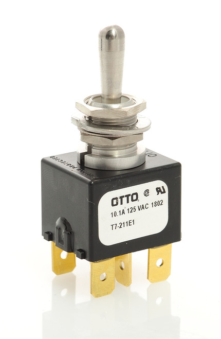 T7-211E1, switch, marine, auto, toggle, momentary, double pole, sealed, Otto, T7 Series, snow plow, B62038, Blizzard, Boss, A-frame, draw latch switch, power hitch, dpdt, t7211e1, western, 050-1100, 172635, MSC01889, 62038, AB01-62038E, P-0038-HW, T7-E
