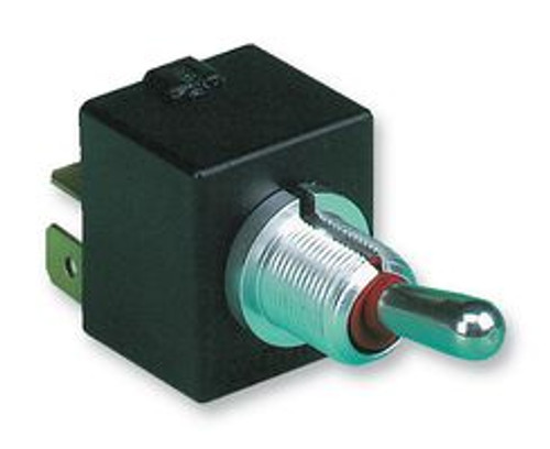 Otto Toggle T7-212E5, DPDT (ON)-OFF-(ON), quick connect terminals, double momentary, sprint return to center off position, low level contacts