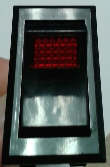 1555 3102 Marquardt Red Illuminated Inrush Rocker Switch
