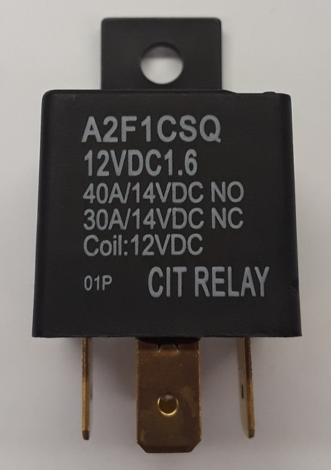 CIT, 40 amp automotive relay, sealed, quick connect, normally open and normally closed, A2F1CSQ12VDC1.6