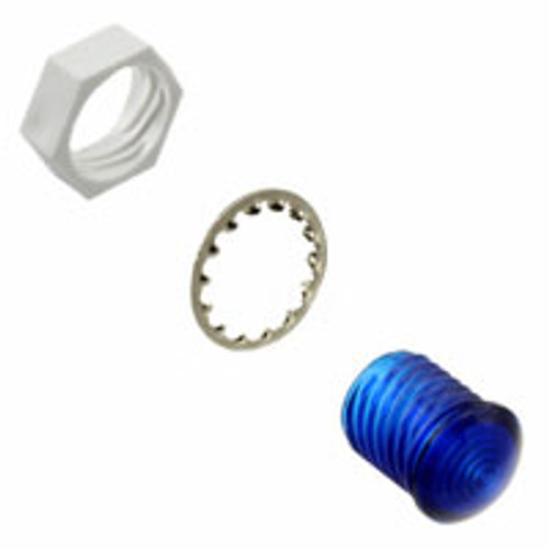 VCC round led lens, blue, 5 mm, lens CMC 441 BTP