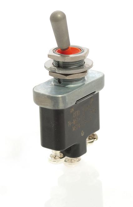 Otto toggle switch, environmentally sealed, on-on, screw terminals, military toggle, T9-MS1-23, MS24523-23