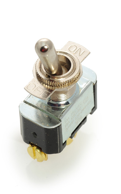 2FA54-73. Carling toggle switch, single pole, on off, screw terminals, 7802k31, 7500k14, 82600, 90-0001, 01-79672