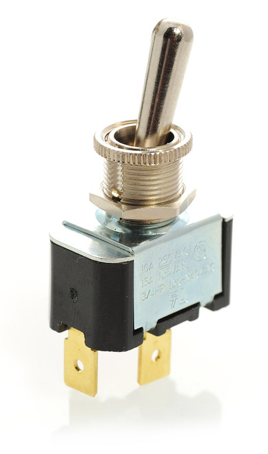 2FA53-73/Tabs. Carling toggle switch, single pole, on off, quick connects
