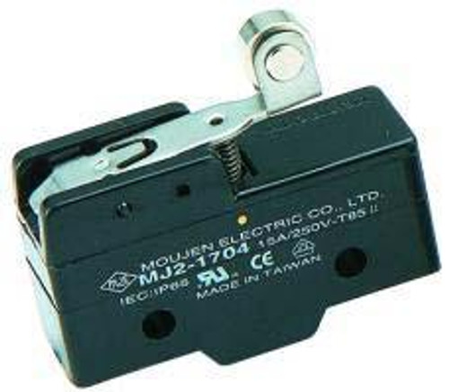Micro switch w/short teflon roller lever, mj2-1704, full size snap action switch