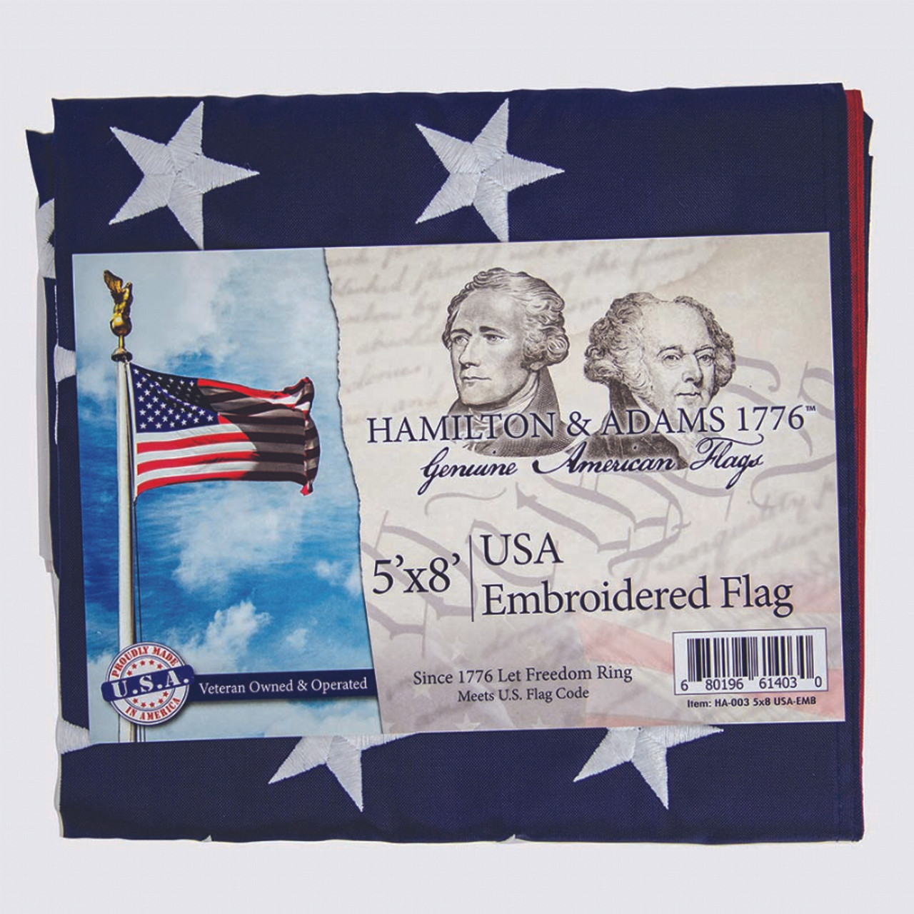 American Flag -Embroidered-5ft x 8ft