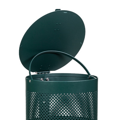 Round Waste Can -Aluminum with lid