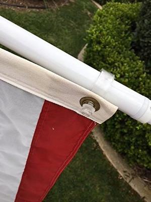 Tangle Free Flag Pole and Bracket -Silver
