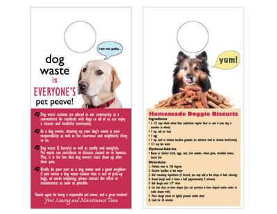 Pet Station Info Door Hangers -pack of 100