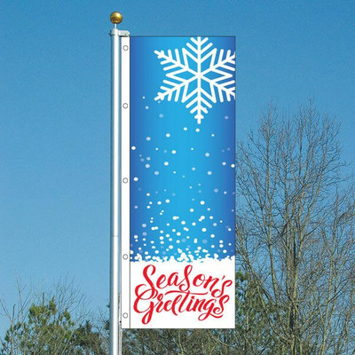 3X8 Vertical Flags Winter Holiday
