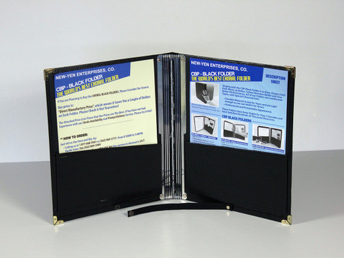 "Order your  Snap Deluxe Black Folder: Size 121/2"" x 11"" . 2-Slots for Pen and Pencil. Buy Now!"