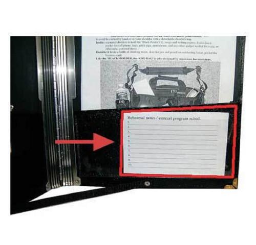 """Black Folder Extra Pocket  ( 4"""" x 9"""" )"""