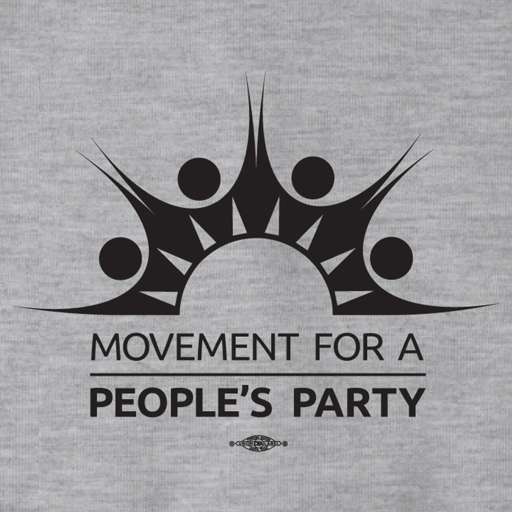Movement For a People's Party Official Logo (Dark Ash Adult Hooded Pullover Fleece)