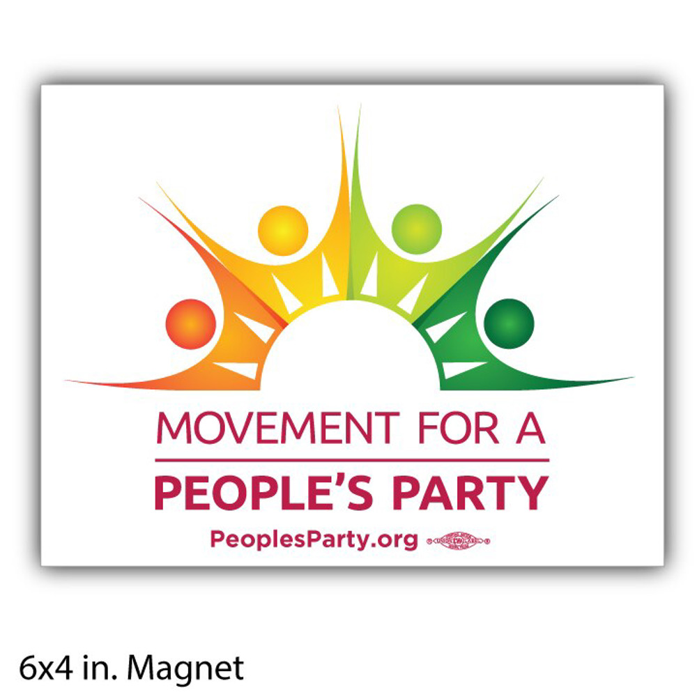 Movement For a People's Party Official Logo  (Bumper Magnet)