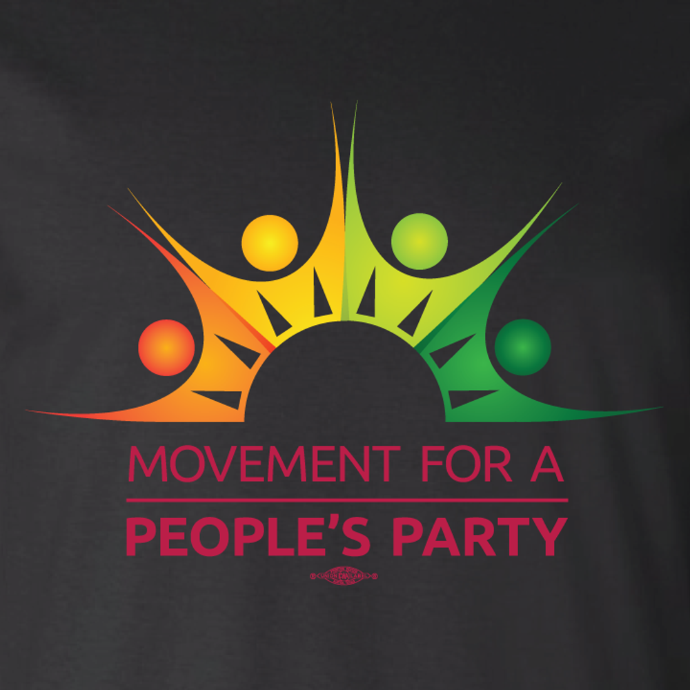 Movement For a People's Party Official Logo (Black Unisex Tee)