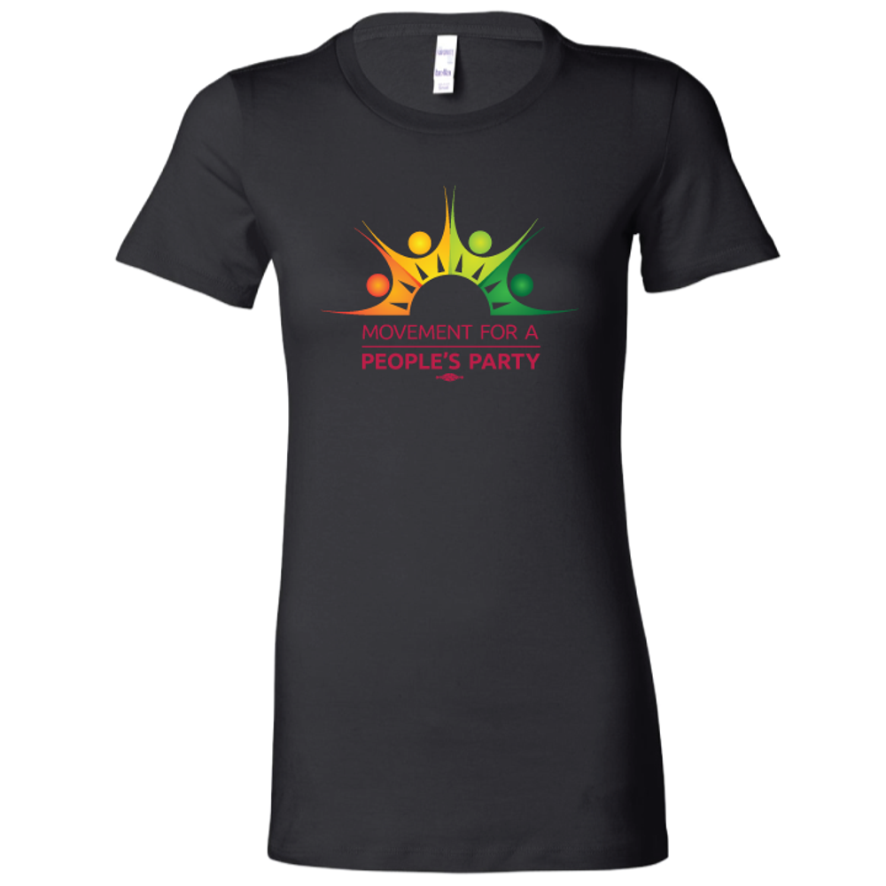 Movement For a People's Party Official Logo (Black ladies tee)