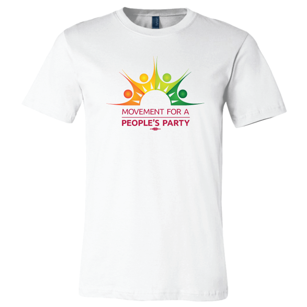 Movement For a People's Party Official Logo (White Unisex Tee)