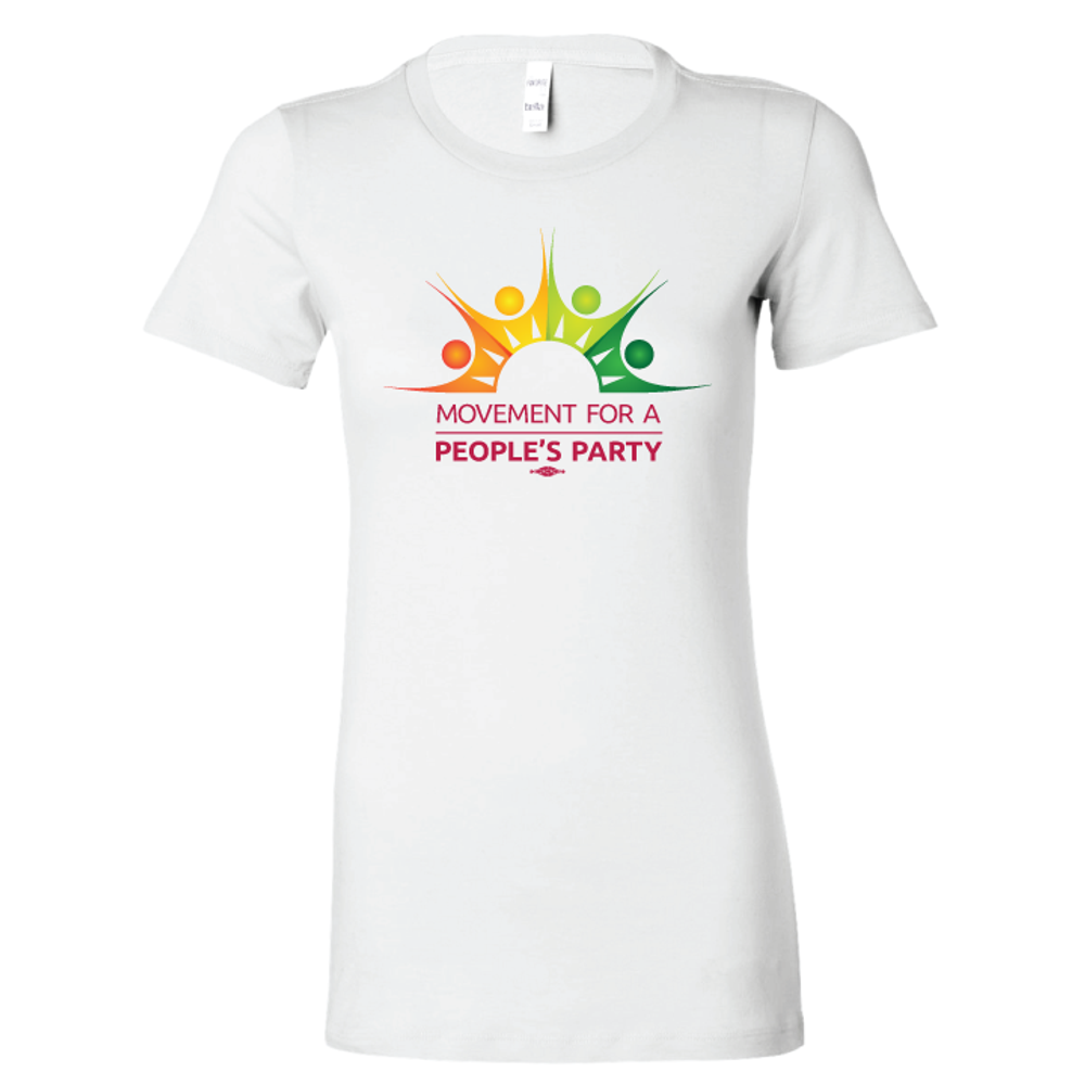 Movement For a People's Party Official Logo (White Ladies Tee)