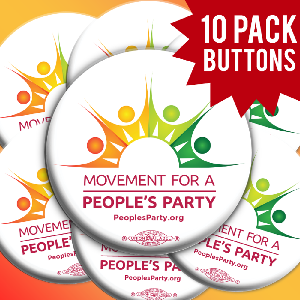 Movement For a People's Party Official Logo (10 Buttons)