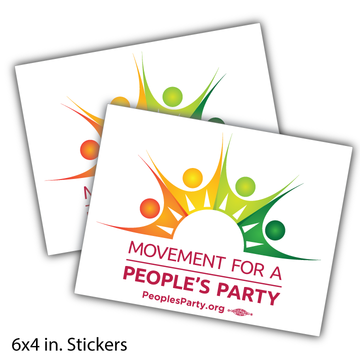 Movement For a People's Party Official Logo Sticker -- Pack of Two!