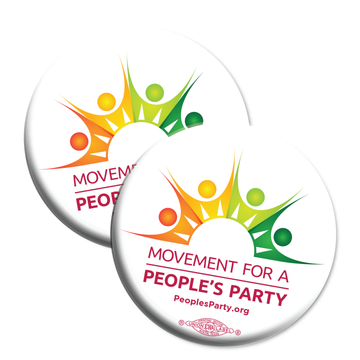 Movement For a People's Party Official Logo -- Button Pack of Two