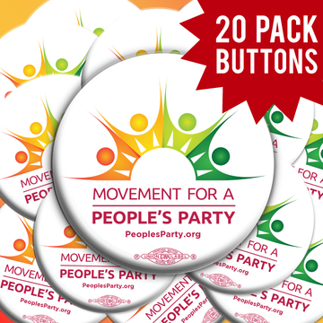Movement For a People's Party Official Logo (20 Buttons)