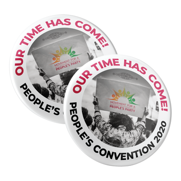 """People's Convention 2020 - Sign (2.25"""" Pin-Back Button -- Pack of Two!)"""