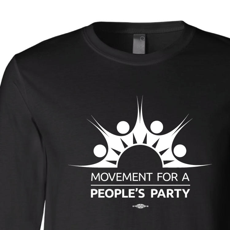 Movement For a People's Party Official Logo (Black Unisex Longsleeve)