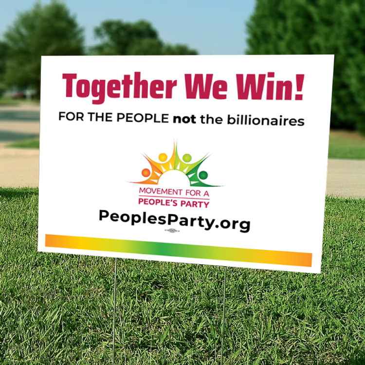 """Together We Win - Color (24"""" x 18"""" Coroplast Yard Sign)"""