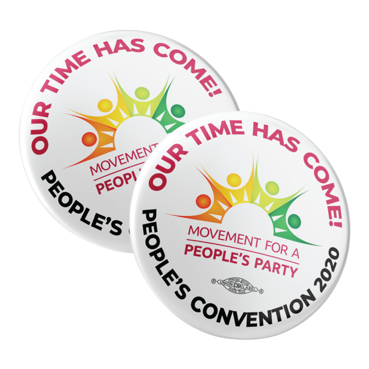 "People's Convention 2020 Logo (2.25"" Pin-Back Button -- Pack of Two!)"