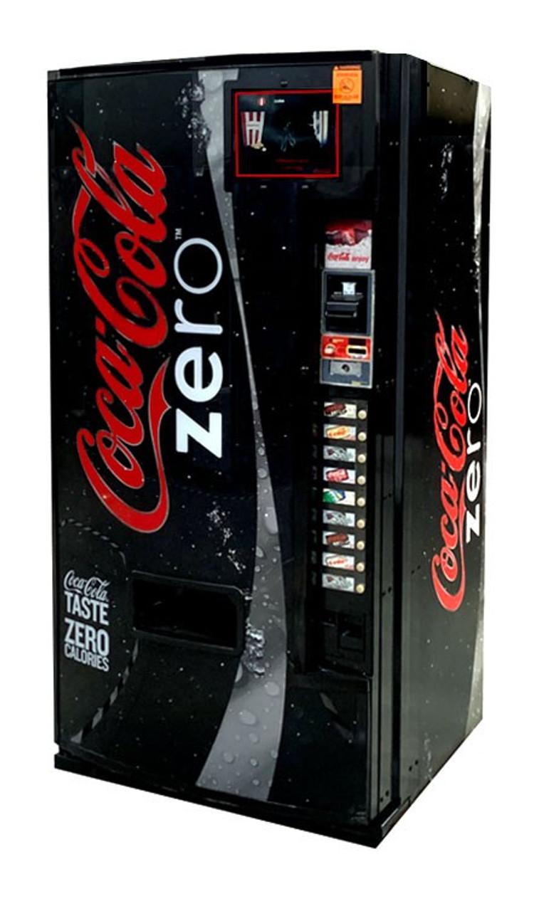 Refurbished Dixie Narco 501E Can/Bottle Soda Machine - Coca Cola Zero