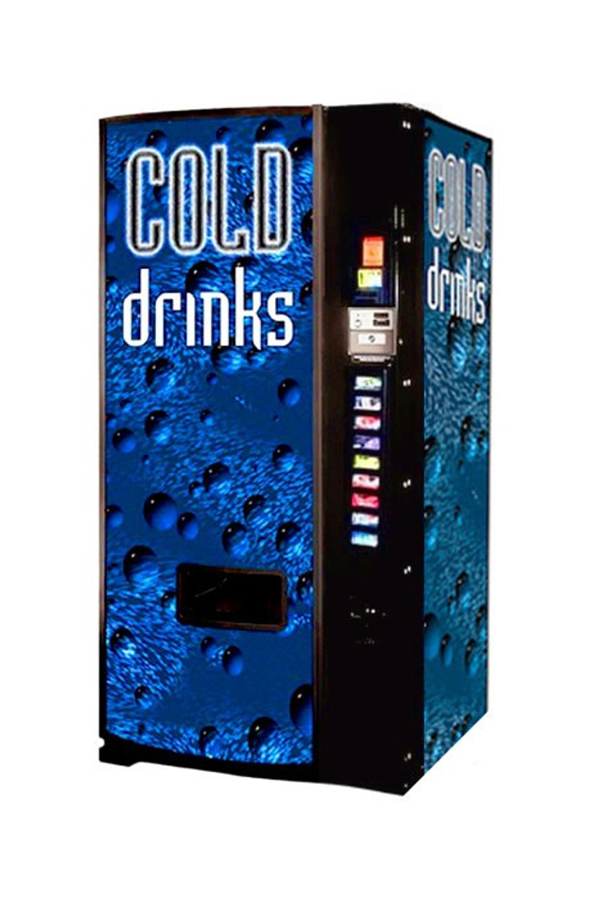 Refurbished Dixie Narco 501E Can/Bottle Soda Machine - Cold Drink Bubbles