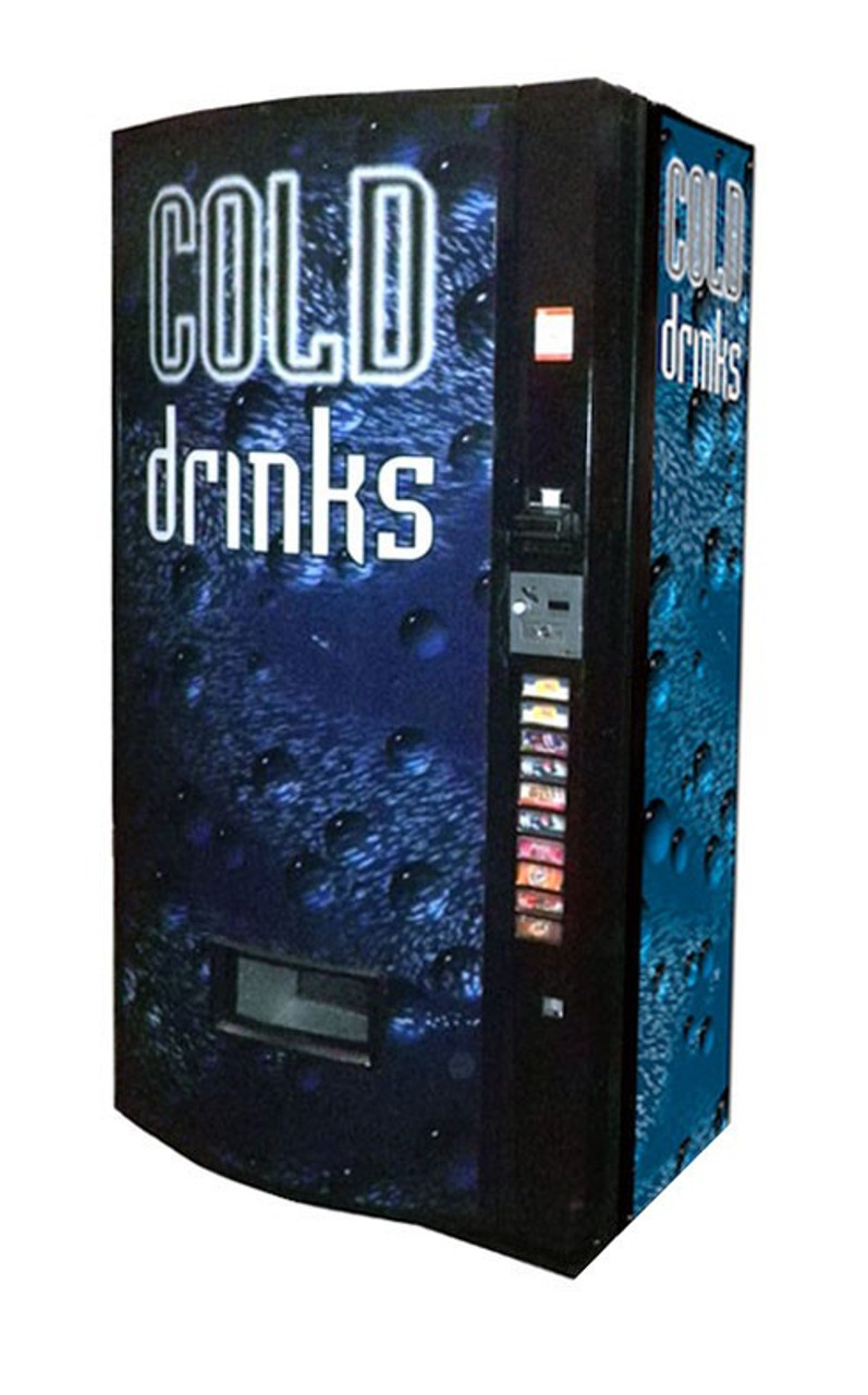Refurbished Vendo 511 Can/Bottle Soda Machine - Cold Drink Bubbles