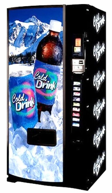 Refurbished Dixie Narco 501E Can/Bottle Soda Machine - Mountain Scene
