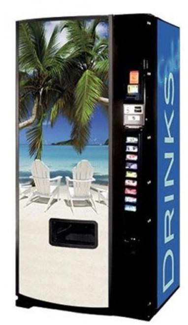 Refurbished Dixie Narco 501E Can/Bottle Soda Machine - Beach