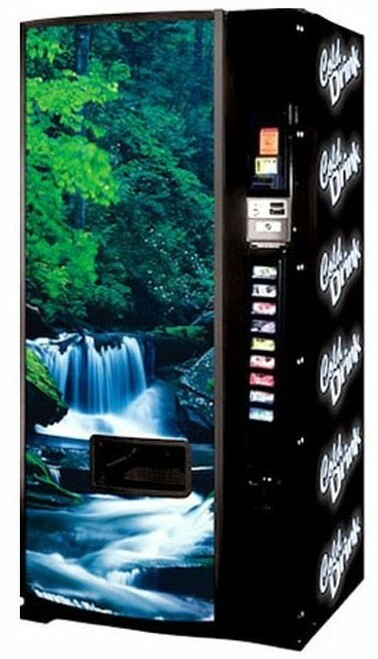 Refurbished Dixie Narco 501E Can/Bottle Soda Machine - Waterfall