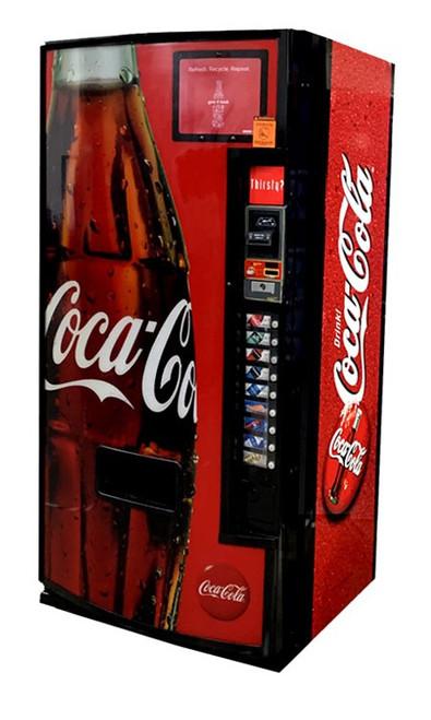 Refurbished Dixie Narco 501E Can/Bottle Soda Machine - Coca Cola