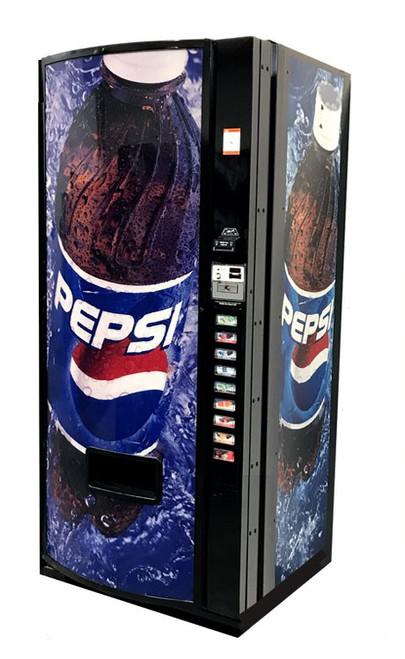 Refurbished Dixie Narco 501E Can/Bottle Soda Machine - Pepsi Globe on Ice